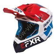 Шлем FXR Helium Race Div, Red/White/Navy/Blue