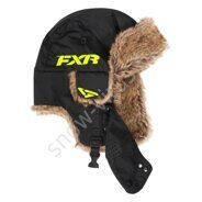 Шапка FXR Trapper, Black/Hi Vis