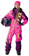 Комбинезон женский легкий FXR Ranger Instinct, Wineberry/Electric Pink/Hi-Vis