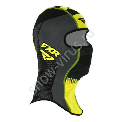 Балаклава FXR Shredder Tech, Black/Char/Hi Vis