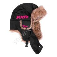 Шапка FXR Trapper, Black/Fuchsia