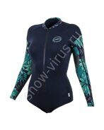 Женский Гидрокостюм лайкра O'Neill WMS FRONT-ZIP L/S SURF SUIT ABYSS/ABYSS/ABYSS/FARO