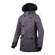 Парка FXR Svalbard с утеплителем, Mid Grey Heather/Plum