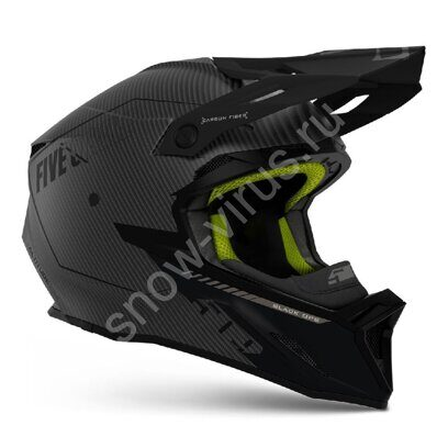 Снегоходный Шлем 509 Altitude 2.0 Carbon 3K, Black Ops Lime