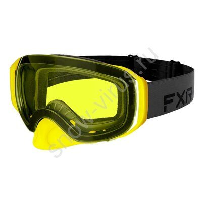 Очки FXR Summit Spherical, Black/Char/Hi Vis