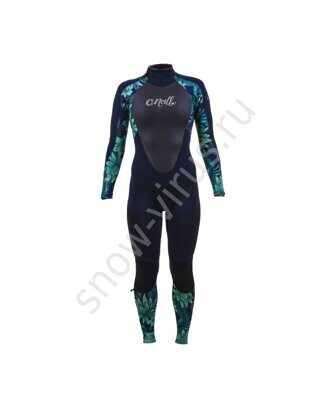 Гидрокостюм женский O'Neill WMS EPIC 3/2 BACK ZIP FULL, ABYSS/FARO/ABYSS