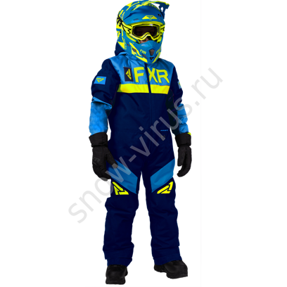 Комбинезон FXR Helium с утеплителем, Navy/Blue/Hi-Vis