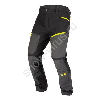 Штаны FXR Altitude, Char Heather/Hi Vis